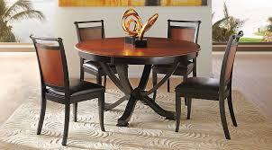 Orland Park Black 5 Pc Round Dining Set