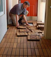 how to install architrex interlocking deck tiles