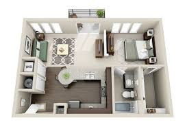 2 Bedroom Home Plans Colors 50 One U201c1 U201d Bedroom Apartment House Plans Architecture U0026 Design