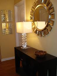 Home Goods Mirror and Home Goods Lamp Transitional entrance foyer
