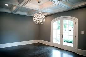 Dark Wood Floors Light Gray Walls Grey Floor Decoration With Transitional Dining Wall