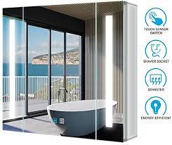 tokvon viewfinder 50x70cm spiegelschrank led badezimmer