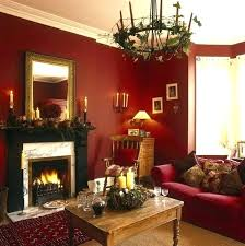 Red Feature Wall Dining Room Accent In Living Bold Walls To Dark