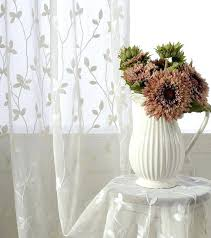 Sheer Cotton Voile Curtains by Floral Sheer Voile Curtains Green 1 Curtain Panels U2013 Muarju