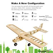 100 Airplane Wing Parts DW Hobby T2501 EP Cloud Dancer Training Plane Balsa Wood 13m Span Biplane RC Toy KIT Aircraft For DIY