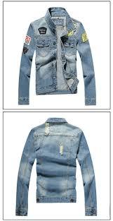 Mens Denim Jacket Fashion Jeans Jackets Slim Fit Casual Streetwear Vintage Jean Clothing Plus Size
