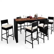 ensemble table chaises bar de jardin ensemble table chaises 13 pièces en polyrotin avec