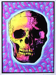 Skull Trip Black Light Poster