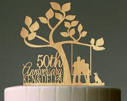 50th Anniversary Cake Topper Etsy Toppers Ebay