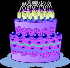 Clip Arts Related To Purple birthday cupcake clipart