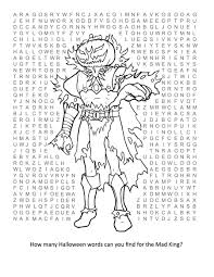 Haunted Halloween Crossword Puzzle Answers by 2008 Mad King Thorn Wordsearch By Xstarrx On Deviantart