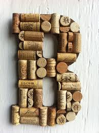 Wine And Grape Kitchen Decor Ideas by Handmade Letters And Symbols Made Of Wine Corks 24 99 Via Etsy