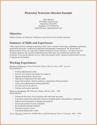 Pharmacy Technician Resume Sample Awesome Duties Pdf Format Of