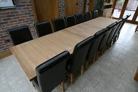 Solid Oak Dining Room Table And Winchester Chairs Shown Below Seats 10 12
