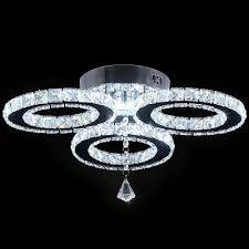 moderne led kristall kronleuchter 3 ringe deckenleuchte