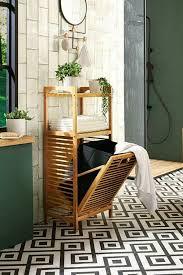 bambusregal wäschekorb wäschebehälter braun korb