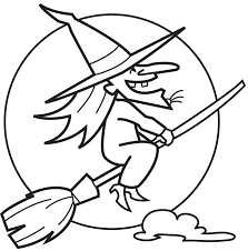 Halloween Witch Witches Coloring Pages