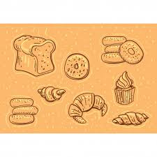 Hand drawn pastry illustration Premium Vector