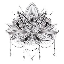 Lotus Flower Coloring Pages