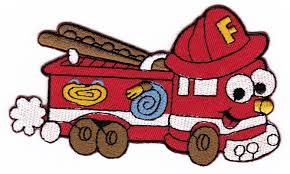100 Fire Truck Cartoon Amazoncom Red Sewon Ironon Patches For Kids
