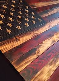 Old Glory Battlefield Flag Wooden American Sign Rustic Decor Burned