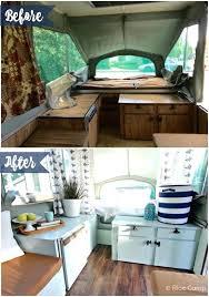 Travel Trailer Remodel Before And After Pop Up Camper Exterior