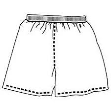 shorts clipart black and white 1