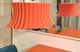 details about ikea ämtevik design leuchte lenschirm big orange pink sock textil strick