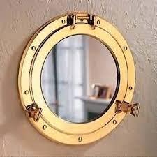 amazon com deluxe nautical brass polished porthole mirror