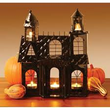 Katherines Collection Halloween Mirror by Haunted House Votive Candle Holder Halloween Decorations On
