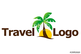 Travel Agent Logo Palm And Sun