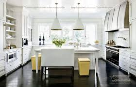 Dark Wood Floor White Kitchen With Absolutely Love The Clean Cabinets Floors And 15