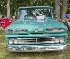 Blue 1960 Chevy Apache Truck Front – Stock Editorial Photo ...