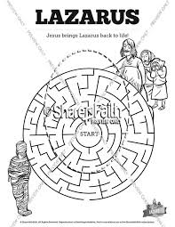 John 11 Lazarus Bible Mazes