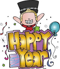 New Year clipart january Pencil and in color new year clipart