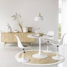 runder esstisch weiß d 100cm maisons du monde