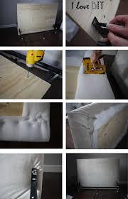 tête de lit moelleuse capitoner fait maison chambre