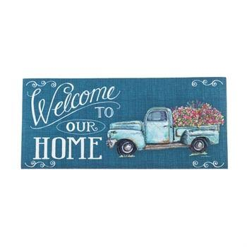 Evergreen Floral Truck Welcome Sassafras Switch Mat