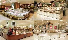 Cake Showcase Vertical Refrigerated Bakery Display Case Pastry With Curve Glass Door