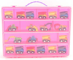 100 Pink Dump Truck Playset Carrying Case Stores Dozens Of S And
