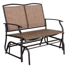 Patio Furniture Loveseat Glider by 2 Person Loveseat Glider Bench Chair Patio Porch Swing With Rocker