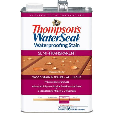Thompsons Waterseal Semi Transparent Stain - Woodland Cedar