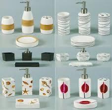 details zu 4 tlg bad wc garnitur badezimmer set seifenspender badgarnitur accessoires