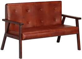 vidaxl akazienholz massiv sofa 2 sitzer luxus design