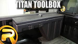 How To Install Titan Side Bed Wheel Well Toolbox - YouTube