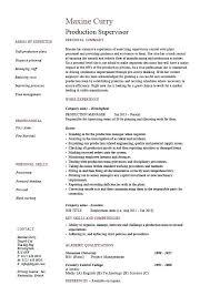 Production Supervisor Resume Sample Example Template Job Cv For Supermarket