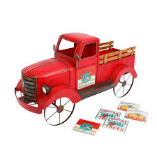 100 Antique Metal Toy Trucks Gerson Red Solar Lighted And Wood Truck With 3