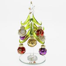 UPC 630613033579 Product Image For LS Arts Inc Glass Christmas Tree With 9 Pearled