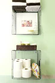 Hanging Wire Baskets For Vertical Storage Is Such A Cute Way To Organize Your Bathroom