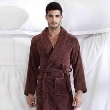 robe de chambre en velours robe de chambre velours homme marron à col châle achat vente